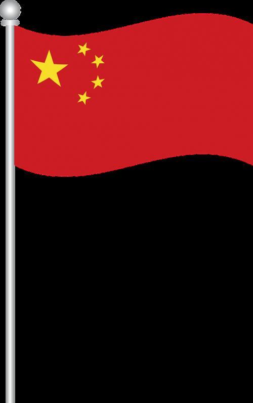 Kinijos vėliava,Kinijos vėliava,pasaulio vėliava,pasaulių vėliava,Šalis,nemokama vektorinė grafika