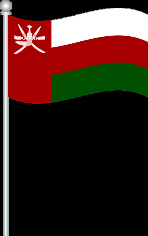 savininko vėliava,oman,vėliava,pasaulio vėliava,nemokama vektorinė grafika