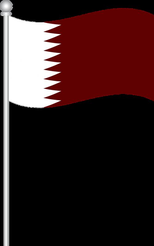 Kataro vėliava,Kataras,vėliava,pasaulio vėliava,nemokama vektorinė grafika