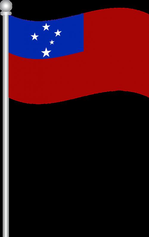 Samoa vėliava,vėliava,samoa,pasaulis,nemokama vektorinė grafika