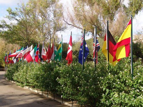 vėliavos,šalies vėliavos,smūgis,brier,Ispanija,Kanada,Naujoji Zelandija,Jungtinė Karalystė,Vokietija