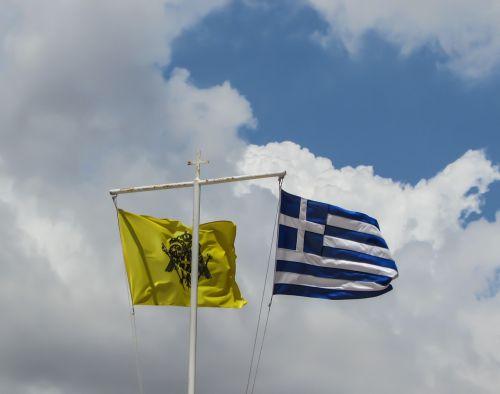 vėliavos,plaukiojantys,Byzantium,Graikija,tauta,simbolis,Šalis,patriotizmas,vėjas,dangus,debesys
