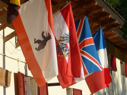 vėliavos,tarptautinis,austria,Anglija,france,priklausyti