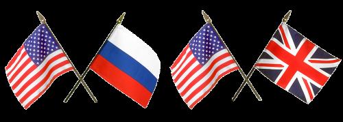 vėliavos, Rusija, Amerikos vėliava, rusų vėliava, anglų vėliava, Rusijos vėliava, skaidrus fonas, dizainui, trispalvis, union jack, simbolis, valstybės vėliava, juostelės, žvaigždės, Jungtinės Valstijos, tauta, be honoraro mokesčio