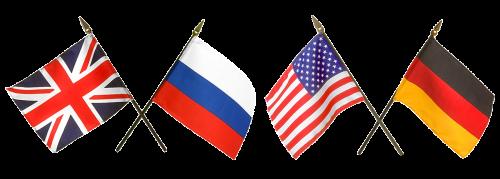 vėliavos, Rusija, Amerikos vėliava, rusų vėliava, anglų vėliava, Rusijos vėliava, vokiečių vėliava, skaidrus fonas, dizainui, trispalvis, union jack, simbolis, valstybės vėliava, juostelės, žvaigždės, Jungtinės Valstijos, tauta, valstybė, Vokietija, be honoraro mokesčio