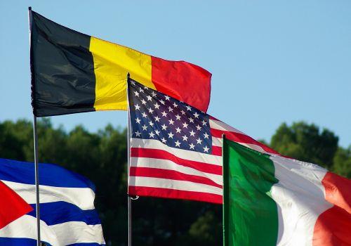 vėliavos,Belgijos vėliava,airiškas vėliava,Amerikos vėliava