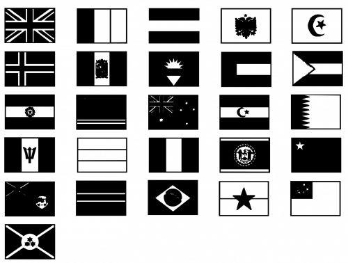 siluetas, vėliava, vėliavos, tarptautinis, Anglija, vėliavos tarptautinės