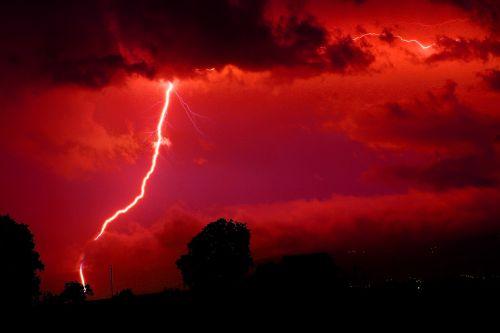 blykstė,raudona,energija,dabartinis,gamta,dangus,naktis,pragaras,griauna,griauna,oras