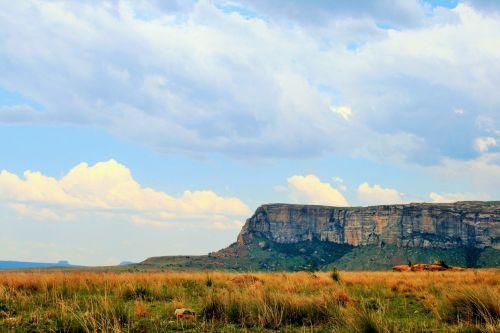 kalnai, Drakensbergas, auksiniai & nbsp, vartai & nbsp, nacionalinis & nbsp, parkas, plokščias kalnas