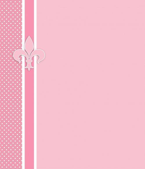 Fleur & Nbsp,  De & Nbsp,  Lis,  Fleur & Nbsp,  De & Nbsp,  Lys,  Rožinis,  Balta,  Polka & Nbsp,  Taškų,  Taškai,  Dėmės,  Kortelė,  Šablonas,  Popierius,  Kvietimas,  Skelbimas,  Menas,  Iliustracija,  Dizainas,  Scrapbooking,  Fleur De Lis Kortelė