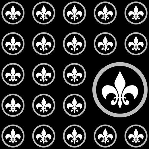 Fleur & nbsp, de & nbsp, lis, Fleur & nbsp, de & nbsp, lys, fleur-de-lis, fleur-de-lys, modelis, tapetai, popierius, fonas, dizainas, juoda, balta, Prancūzų kalba, emblema, Scrapbooking, Laisvas, viešasis & nbsp, domenas, fleur de lis fonai fonas