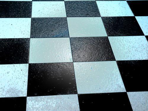 grindys, plytelės, plytelės, kriauklė, Šachmatai, šaškės, fonas, grindų plytelės