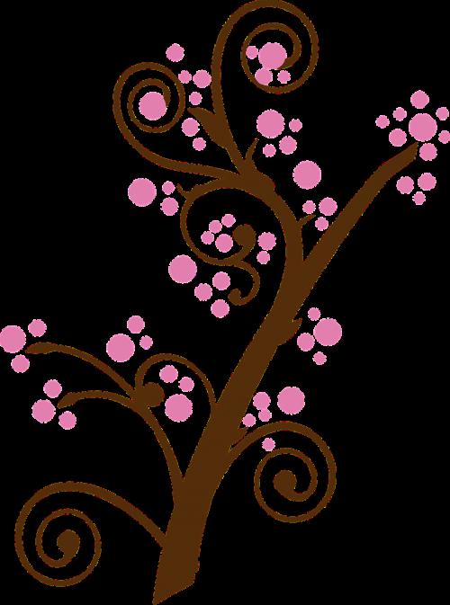 gėlių,šakelė,filialas,medis,rožinis,vyšnių žiedas,slyvos žiedas,žiedas,žydintis medis,nemokama vektorinė grafika