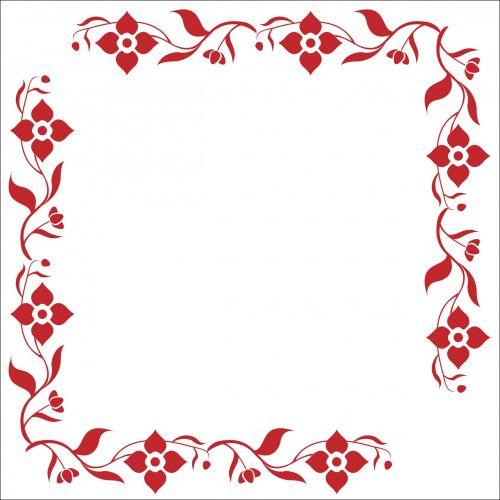 rėmas, gėlių, gėlė, dekoratyvinis, dekoratyvinis, gėlės, raudona, Scrapbooking, iliustracija, gėlių rėmas raudonas dekoratyvinis