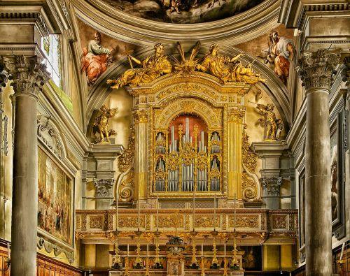 Florencija,italy,San Marco,bažnyčia,katedra,patalpose,patalpose,interjeras,pastatai,architektūra,auksinis,organas,muzika,skulptūros,paveikslai,stulpeliai,gražus,hdr