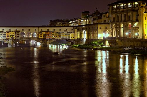Florencija mėlyna valandos,Florencija,Toskana,arno,ponte vecchia