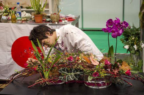 floristas,gėlės,išdėstymas