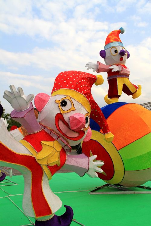 gėlė 燈,lėlė,klounas,spalva,festivalis,žibintų festivalis,parkas,spalvoti rutuliai,apskritas,džiaugsmas