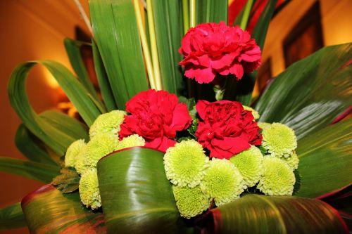 gėlės, raudonos & nbsp, gėlės, žalias & nbsp, gėlės, lapai, gėlių & nbsp, susitarimas, gėlių susitarimas 2