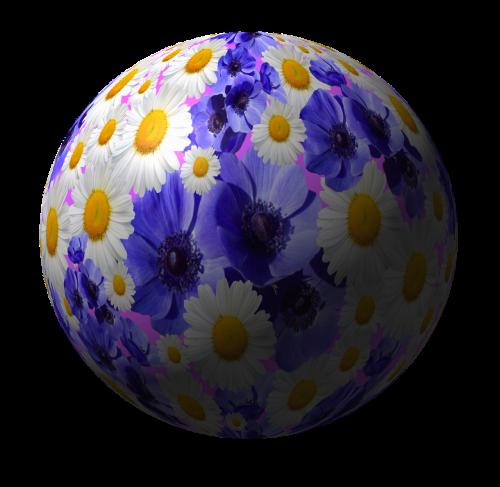 gėlės,rutulys,planeta,gamta,globojamos,abstraktus,rutulinis apdaila