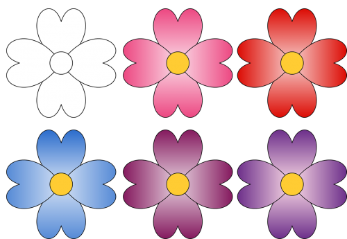 gėlės,rožinė gėlė,raudona gėlė,mėlyna gėlė,purpurinė gėlė,alyvinė gėlė,gėlių dažymo puslapiai,iliustracija,piešimas
