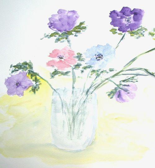 gėlės,vazos,puokštė,dažymas,vaizdas,menas,dažyti,spalva,meniškai,paveikslų tapyba,menininkai,kompozicija,kūrybiškumas,meno kūriniai,amatų,drobė,dailininkas,kilniai,grafinis