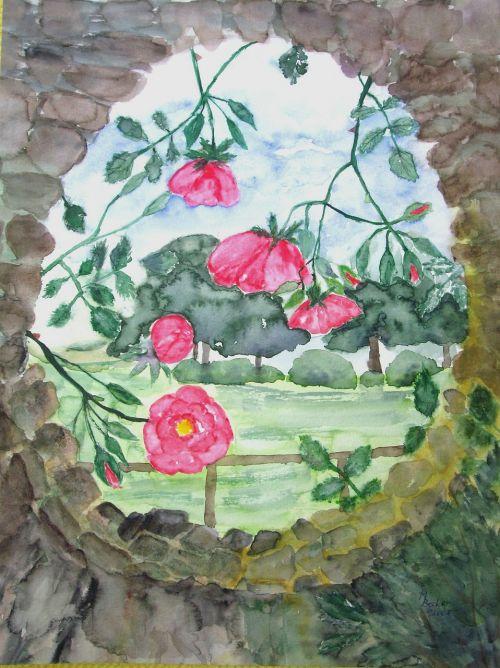 gėlės,rožės,dažymas,vaizdas,menas,dažyti,spalva,meniškai,paveikslų tapyba,menininkai,kompozicija,kūrybiškumas,meno kūriniai,amatų,drobė,dailininkas,kilniai,grafinis,kraštovaizdis