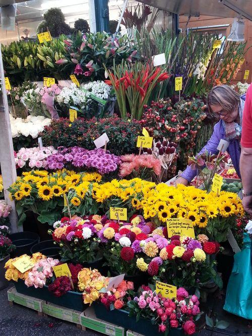 gėlės, floristas, puokštė