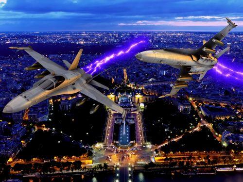 Lėktuvas,  Reaktyvinis,  Karas,  Kovoti,  Oras & Nbsp,  Kovoti,  Fonas,  Lėktuvai Naktį