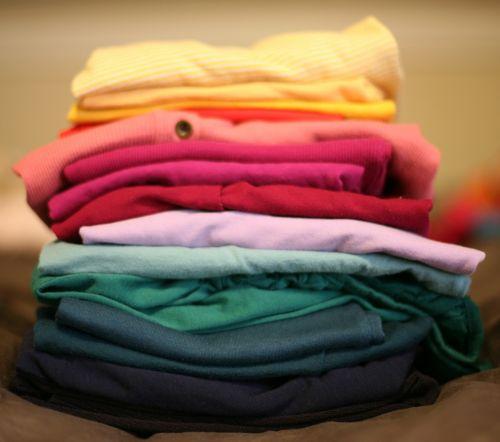 sulankstytas,skalbiniai,krūva,t-shirt,raudona,drabužiai,apranga