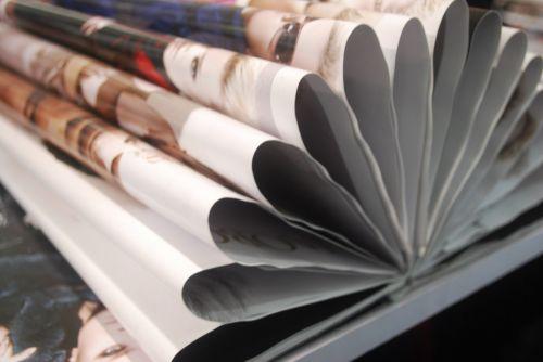 popierius, žurnalas, kartus, sulankstytas, dizainas, sulankstytas popierius