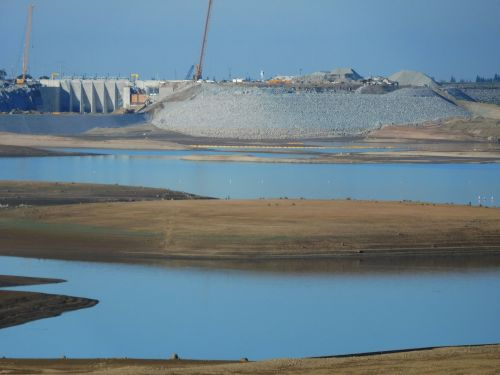 folsom & nbsp, ežeras, Kalifornija, sausra, vanduo, Folsom ežero sausra 58