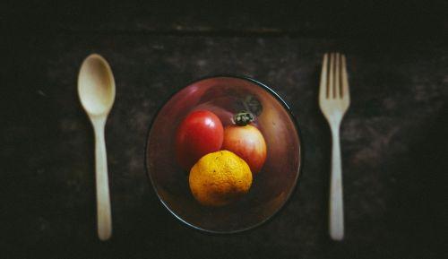 maistas,vaisiai,stiklas,medinis,šaukštas,šakutė