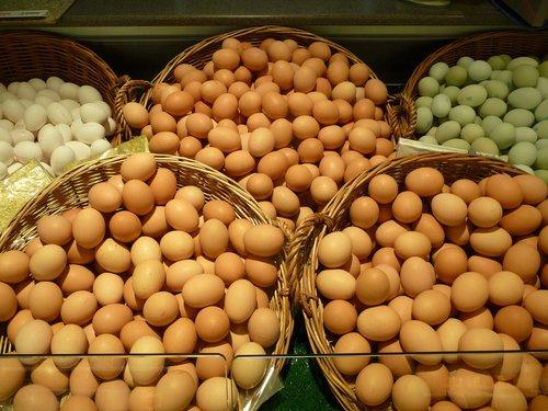 maisto, turgus, kiaušinis, daugelis, maistinių medžiagų, krepšys