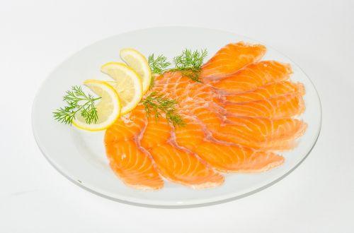 maistas, mėsa, kepta mėsa, kepti, žuvis, pleištai, citrina, salotos