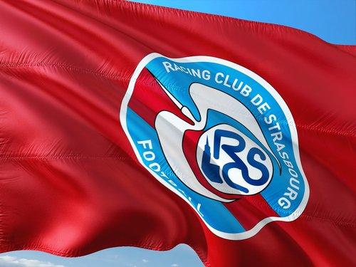 Futbolas, tarptautinis, Prancūzija, ligue 1, vėliava, lenktynių Strasbūras