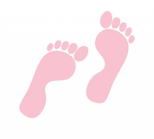 pėdsakas, pėdsakai, pėdos, pėdos, rožinis, Iliustracijos, pėdos, trasa, ženklas, figūra, kontūrai, menas, siluetas, iliustracija, Scrapbooking, izoliuotas, balta, fonas, pėdos pink klipas