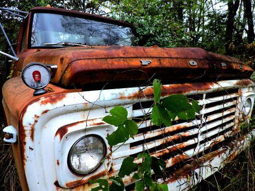 ford,derliaus sunkvežimis,senas sunkvežimis,automobilis,sunkvežimis,apleista transporto priemonė,pikapas