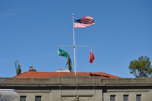 fortas,vėliava,Amerikos vėliava,pakeltas,pastatas,šalies vėliava,balardo spynos,usa