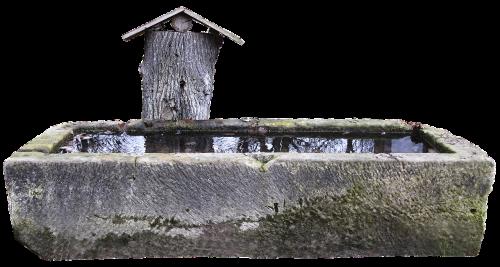 fontanas,natūralus akmuo,apkarpyti,vanduo,akmeninis indas,gyvulių laistymas,akmuo,natūralus vanduo,apmąstymai,izoliuotas