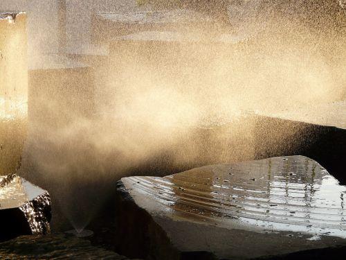 fontanas,распыление,šviesa,atgal šviesa,vanduo,švirkšti,šlapias,saulės šviesa,vandens funkcija