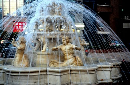 objektai, fontanas, vanduo, statulos, menas, kraštovaizdis, apdaila, fontano statulos