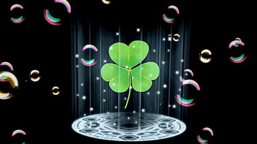keturių lapų dobilų,sėkmė,laimingas dobilas,laimingas žavesys,žalias,dobilas,muilo burbuliukai