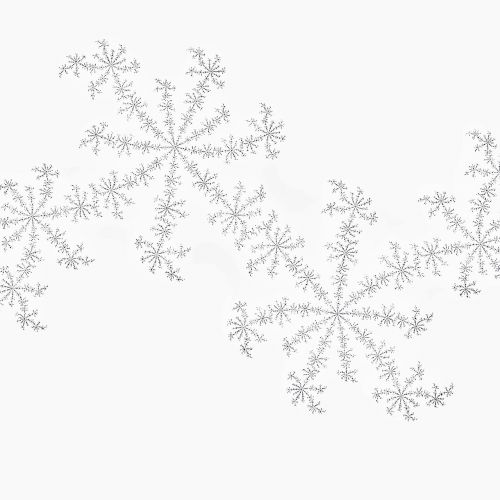 fraktalas,balta,sniegas,padengtas,snaigė