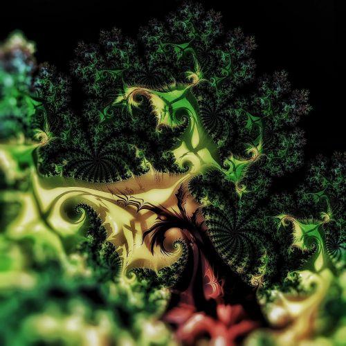 fraktalas,žiediniai kopūstai,žalias,padengtas