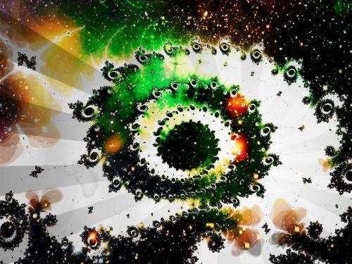 Astronija, fraktalas, skaitmeninis, menas, spiralė, spiralė, erdvė, visata, vaizdas, nuotrauka, fraktalinė visata