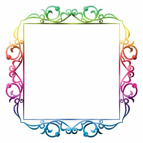 rėmas, nuotrauka, spalvinga, spalvinga, Iliustracijos, clip & nbsp, menas, iliustracija, izoliuotas, balta, fonas, Scrapbooking, Laisvas, viešasis & nbsp, domenas, rėmo spalvinga paveikslėlis