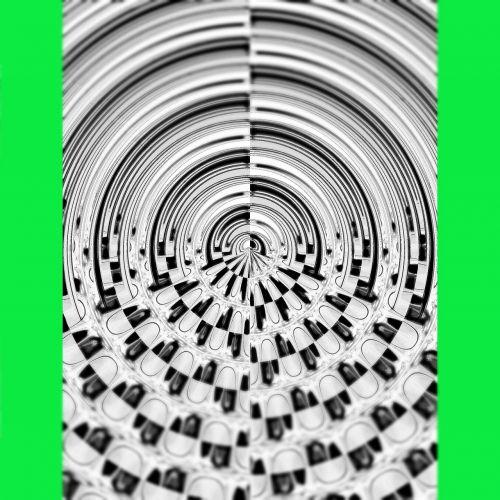 įrėminti,Fraktalas juodas,balta,žalias,tabletes,subalansuotas