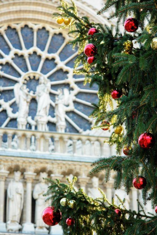 france,paris,bažnyčia,vakarų rožė,išsamiai,Kalėdos,rutuliai