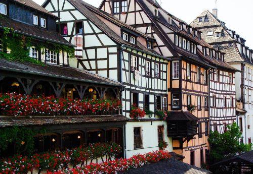 france,Strasbourg,petite france,namai fasadai,Alsace